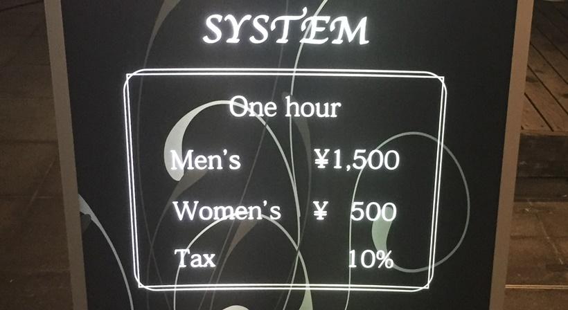 エリアの料金システム