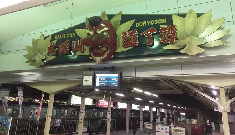 伊豆箱根鉄道大雄山線の入口